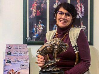 Olga Mazzoni con il premio The Great America West