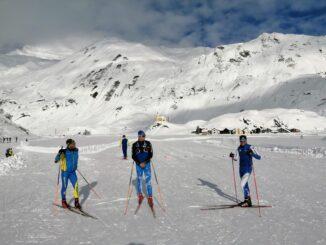 Sci di fondo a Riale, Piemonte -Nazionale Juniores in allenamento