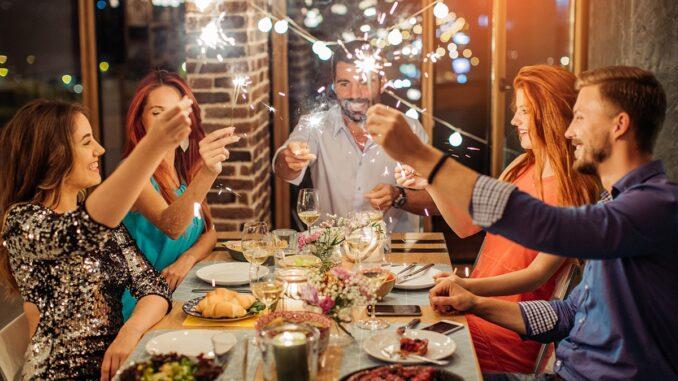Festività di Natale a ristorante