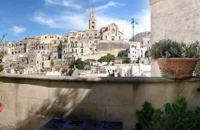Sassi Hotel di Matera, panorama dall'ingresso