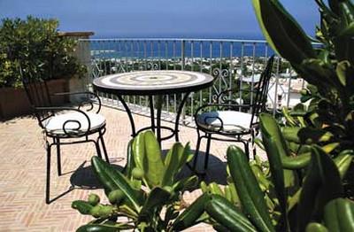 Hotel Poggio del Sole a Forio d'Ischia, la terrazzina panoramica