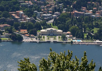 Panorama visibile dall'Albergo Vista Lago a Brunate