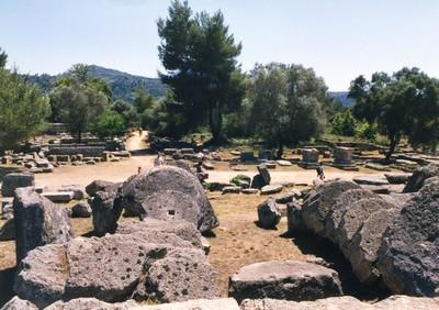 Quel che rimane di Olimpia, la prima città delle olimpiadi antiche ©Foto Anna Bruno