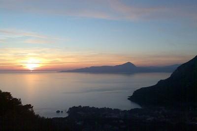 Mare al tramonto, Maratea