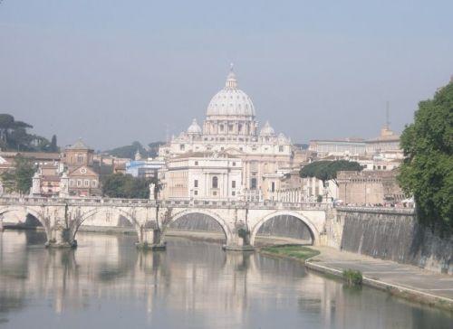 Veduta di Roma e del Vaticano