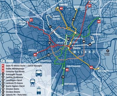 Bus notturni a Milano: la mappa dei percorsi