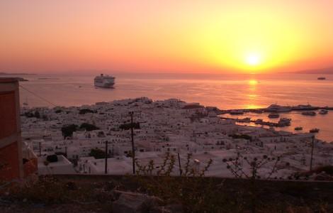 Mykonos al tramonto ©foto Massimiliano Mogliani/Wikipedia