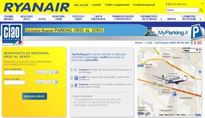 Parcheggio Orio al Serio: Ryanair sceglie Ciao Parking