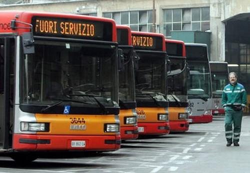 Sciopero mezzi pubblici 1 marzo 2012 ©foto Ansa