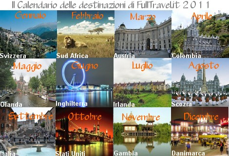 Calendario destinazioni FullTravel.it 2011
