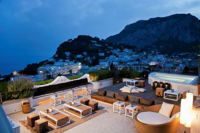 Cenare a Capri: al Capri Tiberio Palace in terrazza » FullTravel