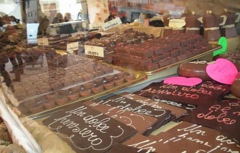 Fiera del Cioccolato a Firenze, uno degli stand