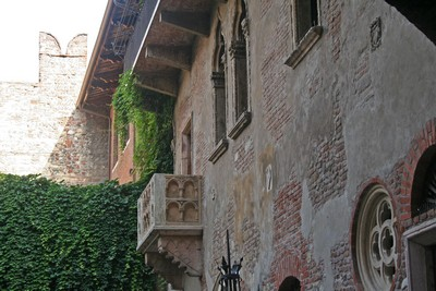 Il balcone di Giulietta a Verona ©Foto Anna Bruno