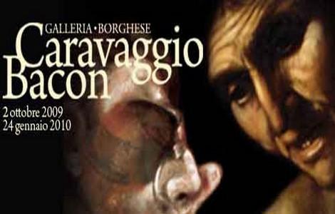 Locandina della mostra Caravaggio-Bacon