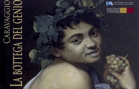 """""""Caravaggio. La bottega del genio"""", particolare della locandina"""