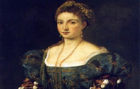 """Mostra a Firenze, """"La Bella"""" di Tiziano: particolare"""