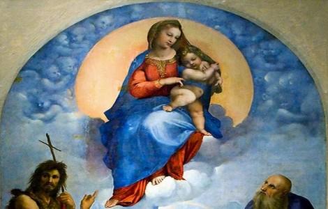 Madonna di Foligno di Raffaello, particolare