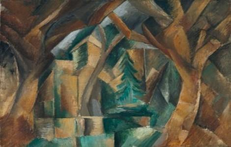Braque, Parco a Carrières-Saint-Denis 1909, Madrid Museo Thyssen Bornemisza