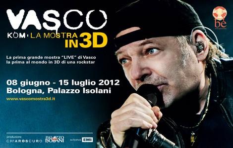 Mostra Vasco Rossi in 3D a Bologna, locandina