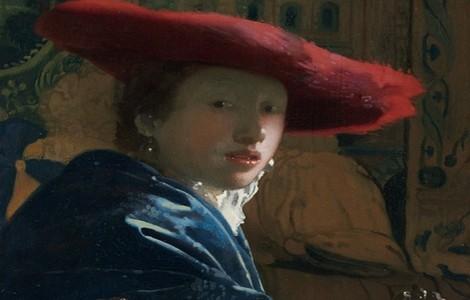 """Mostra Vermeer a Roma: """"Ragazza con cappello rosso"""", particolare"""
