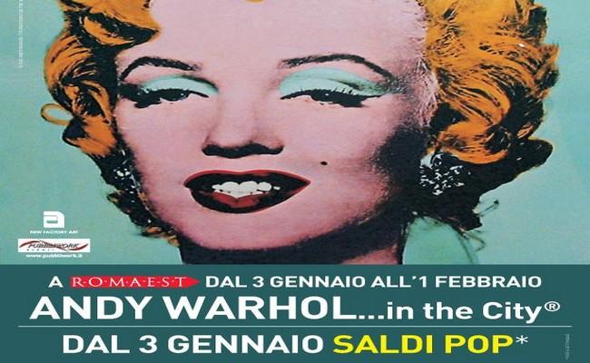 Mostra Andy Warhol al centro commerciale Roma Est