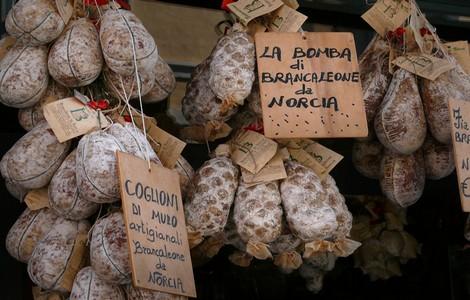 Norcia, prodotti gastronomici tipici ©Foto Zyance