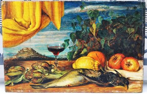 Novecento Sedotto: Le verre de vin, De Chirico