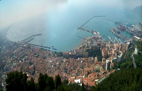 Salerno, panorama dal Castello Arechi