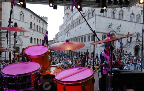 Perugia, Umbria Jazz, Piazza IV Novembre