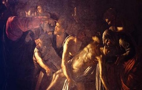 Resurrezione di Lazzaro di Caravaggio in mostra a Roma