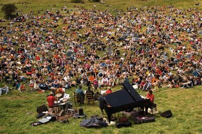 Un'esibizione durante il festival I Suoni delle Dolomiti ©Foto Ronny Kiaulehn