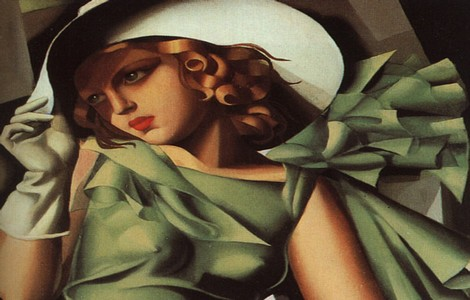 Tamara de Lempicka, Young lady in green dress