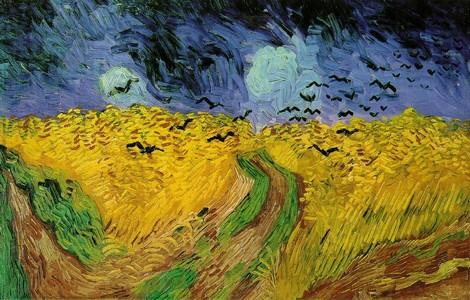 Van Gogh, Campo di grano con volo di corvi