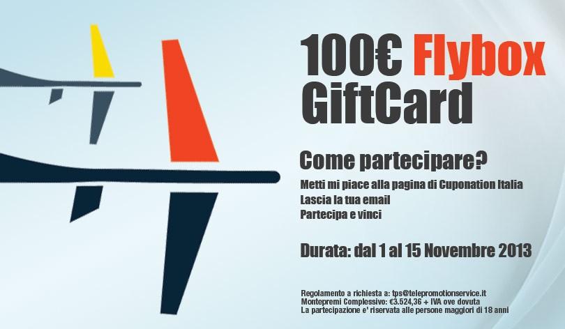 Con CupoNation vinci subito una flybox del valore di 100 € per l´ acquisto dei tuoi biglietti aerei