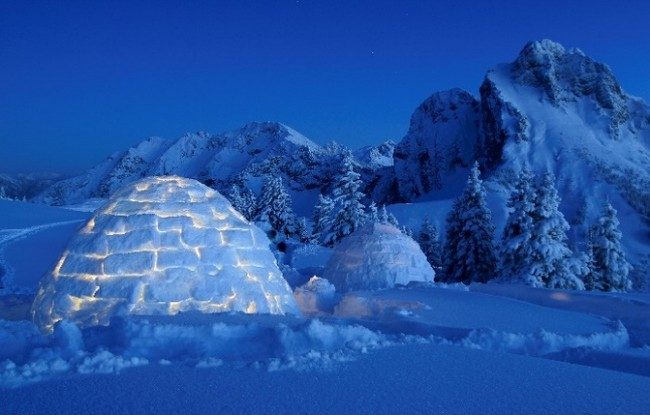 L'igloo dell'hotel Drumlerhof