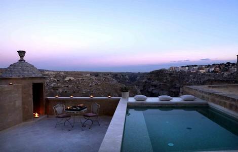 Villa Gattini a Matera, la terrazza