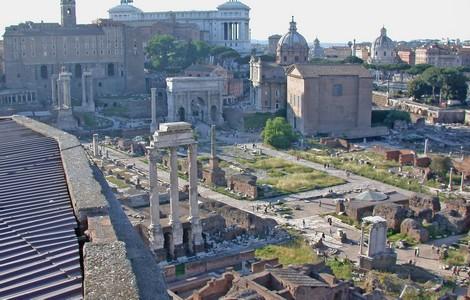 Foro Romano, vista dal Palatino