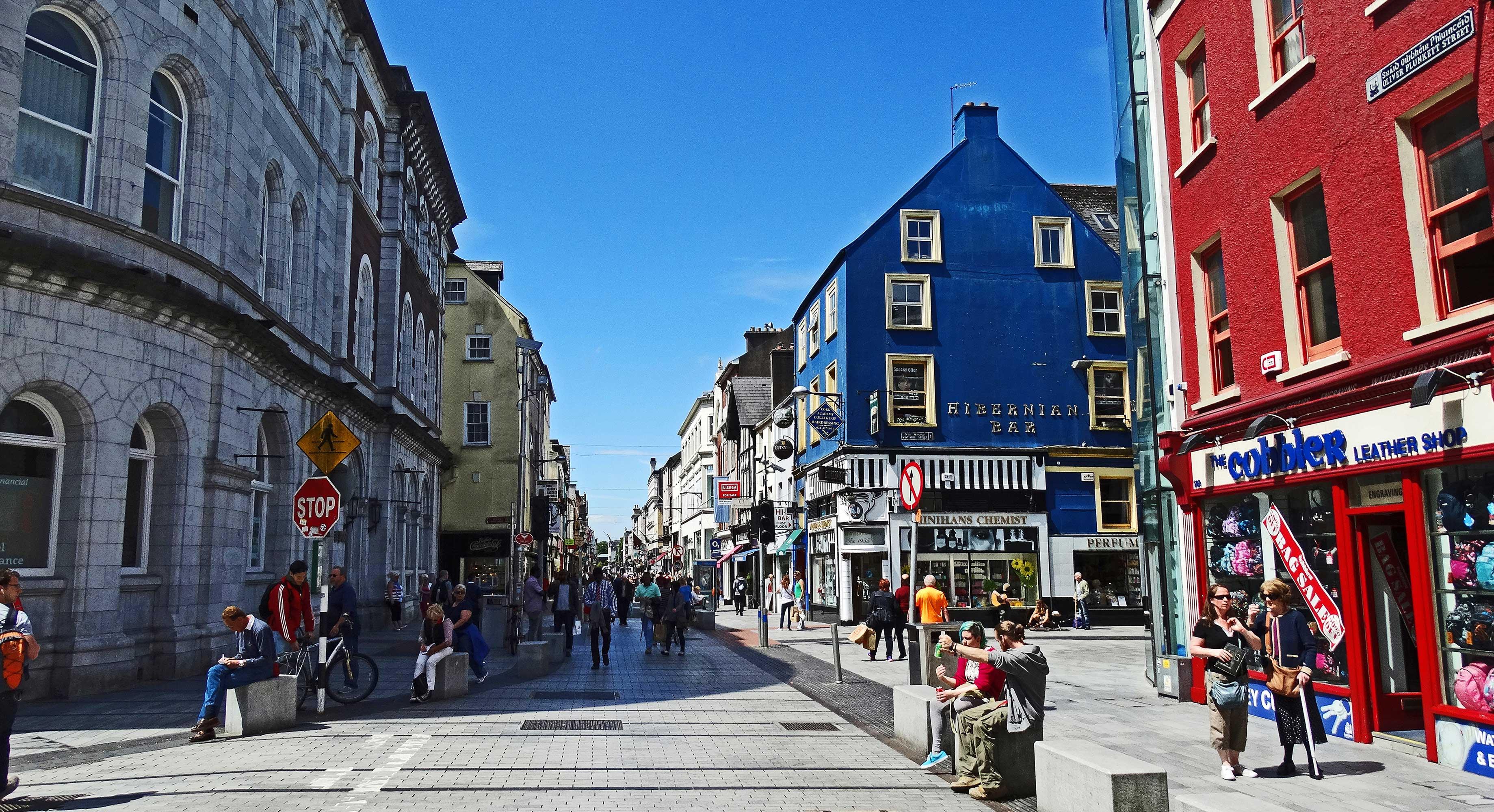 Oiver Plunkett Street a Cork, Irlanda