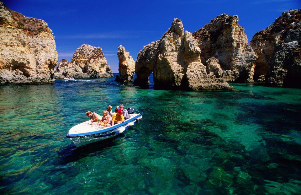Mare dell'Algarve in Portogallo