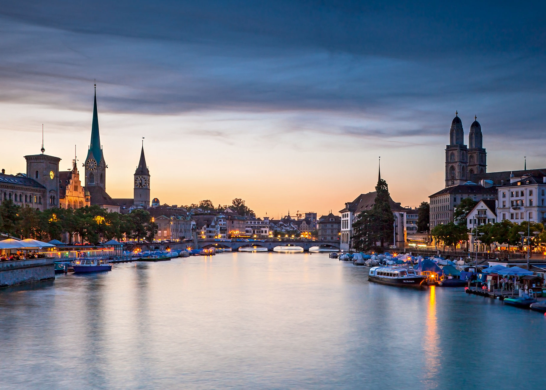 Zurigo cosa vedere: scorcio della città svizzera