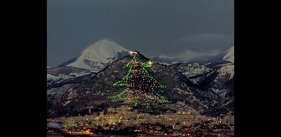 Gubbio, albero di Natale