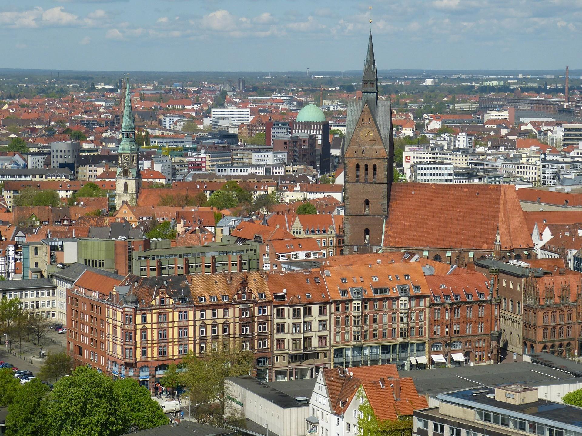 Panorama di Hannover -Foto di falco