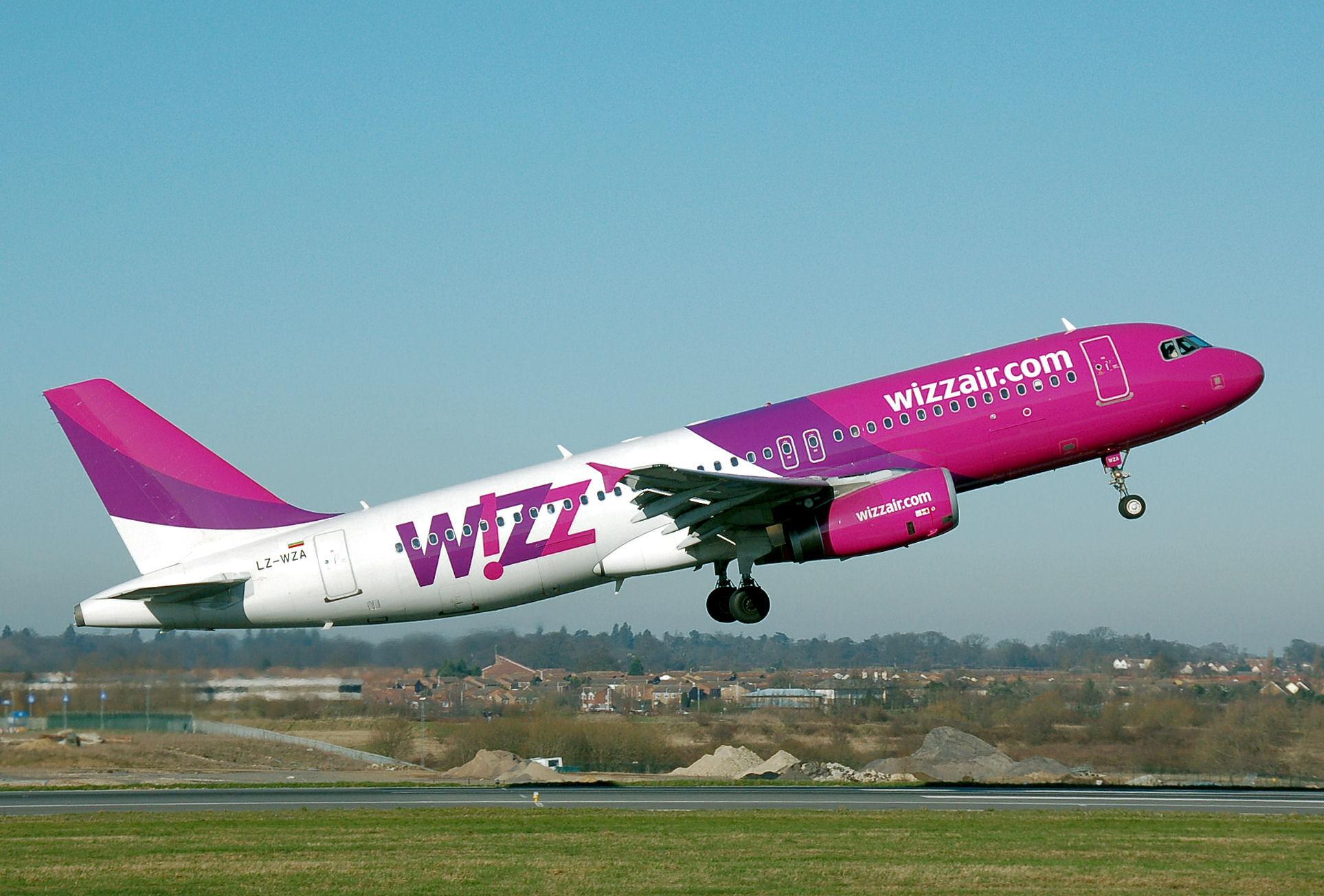 WizzAir, una aereo della flotta