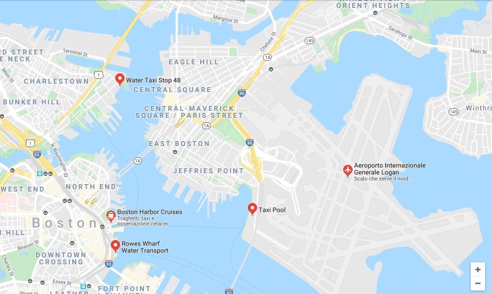 Boston water taxi dove si trovano, mappa