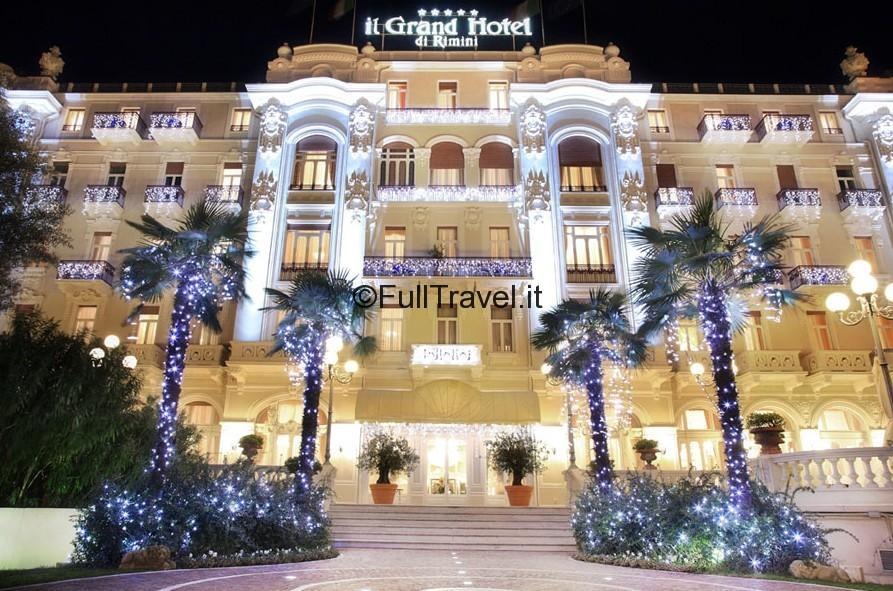 Grand Hotel in notturna, Rimini