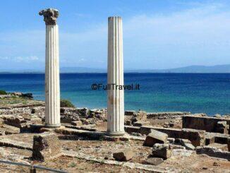 Tharros, colonne di epoca romana
