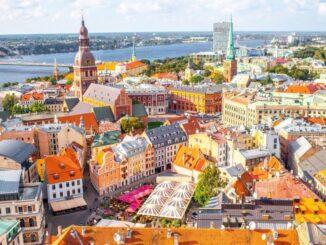 Panorama di Riga, capitale della Lettonia
