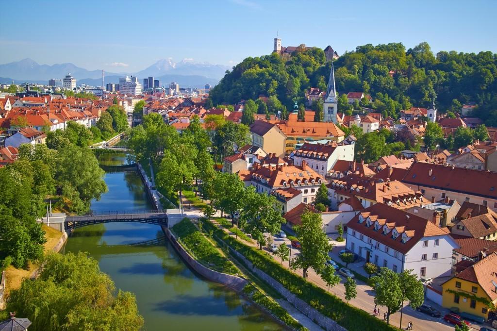 Veduta di Lubiana, Slovenia