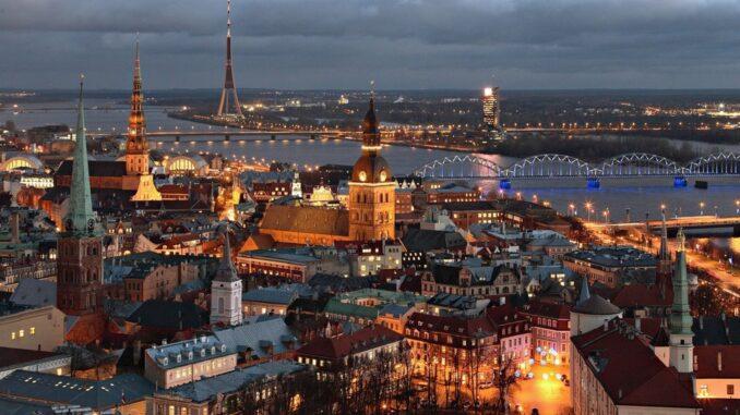 Veduta di Riga, Lettonia
