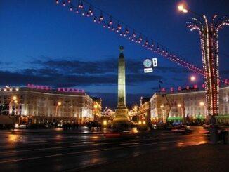 Piazza della vittoria a Minsk, Bielorussia ©Wikimedia